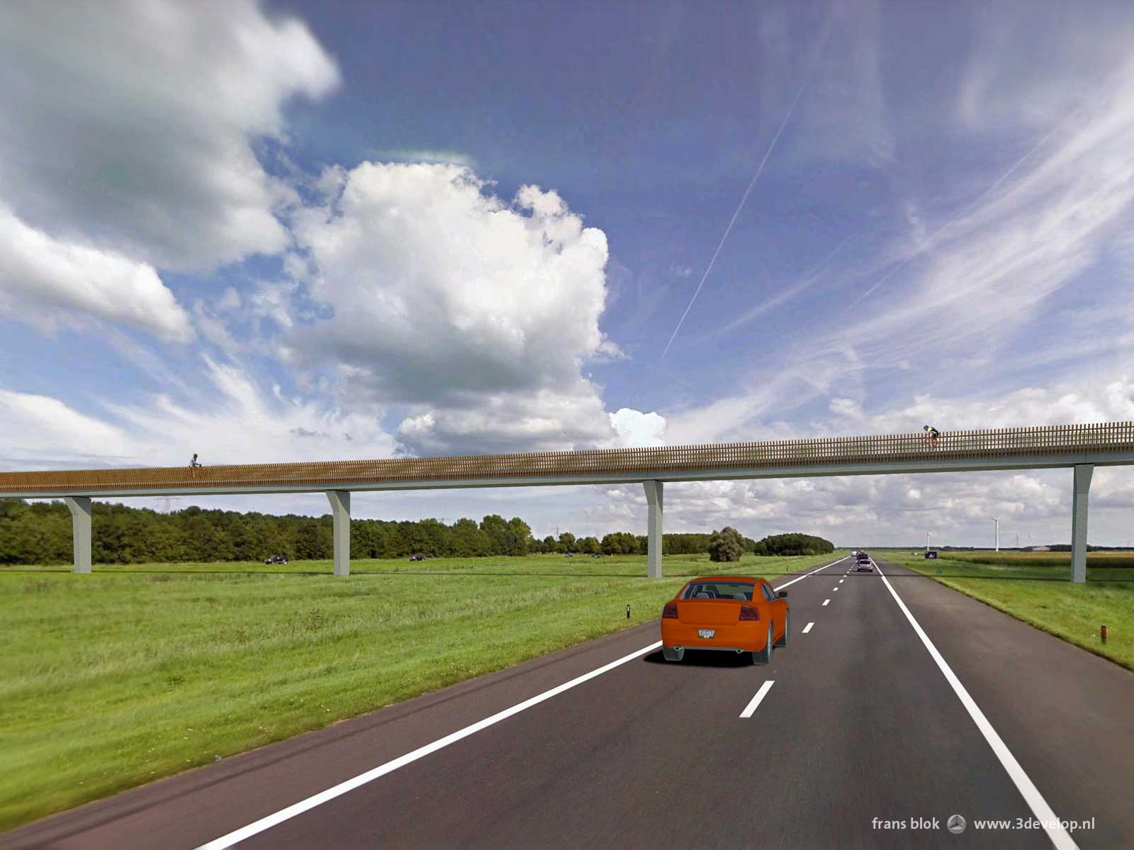 bicycle bridges, Flevoland - design: Royal HaskoningDHV