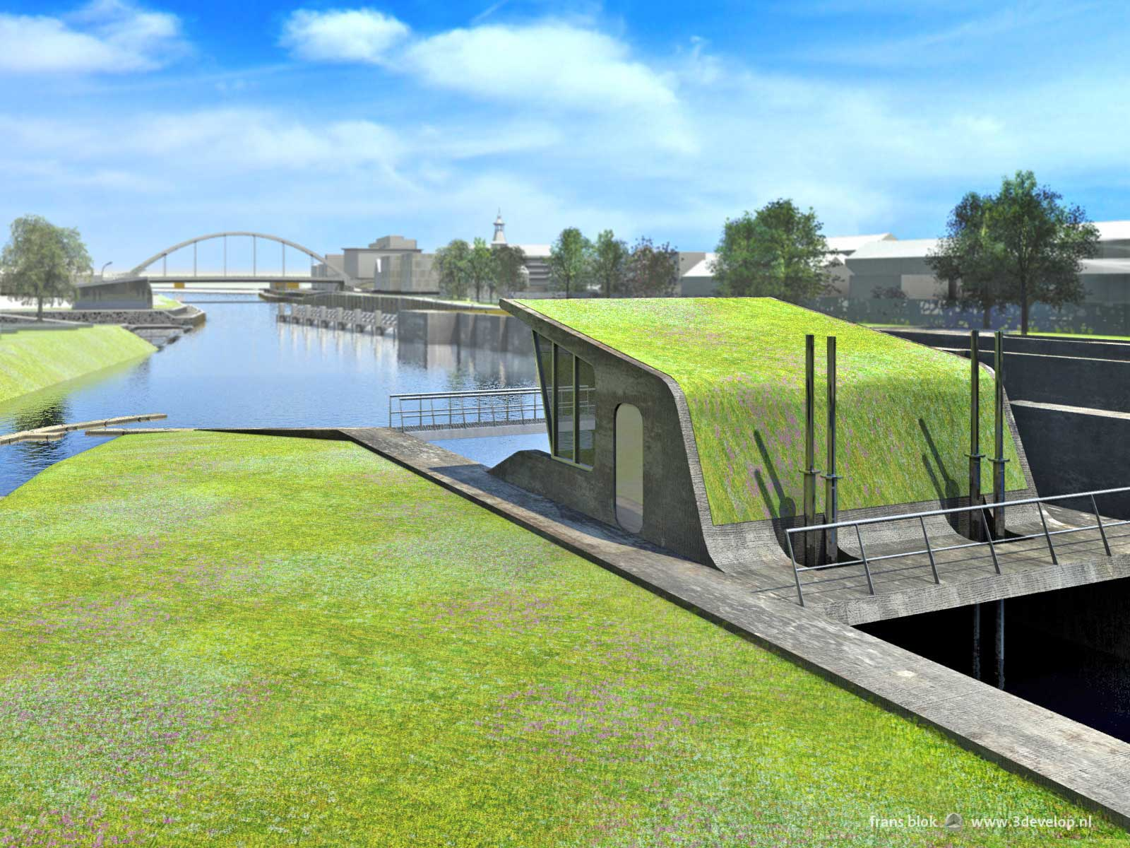 Locks and embankment park, Harelbeke - design: Royal HaskoningDHV